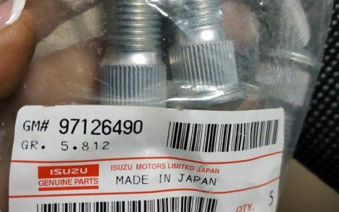 8971264901 - Шпилька передней правой ступицы; NLR85 Isuzu